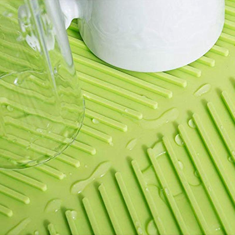 Silicone-Dish-Drying-Mat-Flume-Folding-Draining-Mat-Rectangle-Drain-Mat-B7C4 thumbnail 4