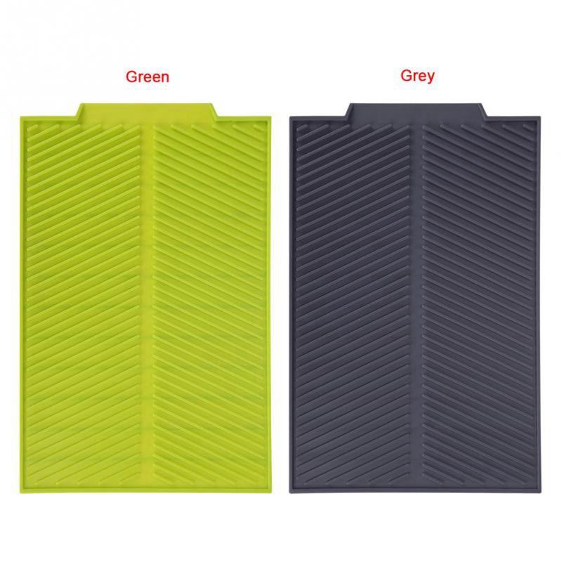 Silicone-Dish-Drying-Mat-Flume-Folding-Draining-Mat-Rectangle-Drain-Mat-B7C4 thumbnail 7