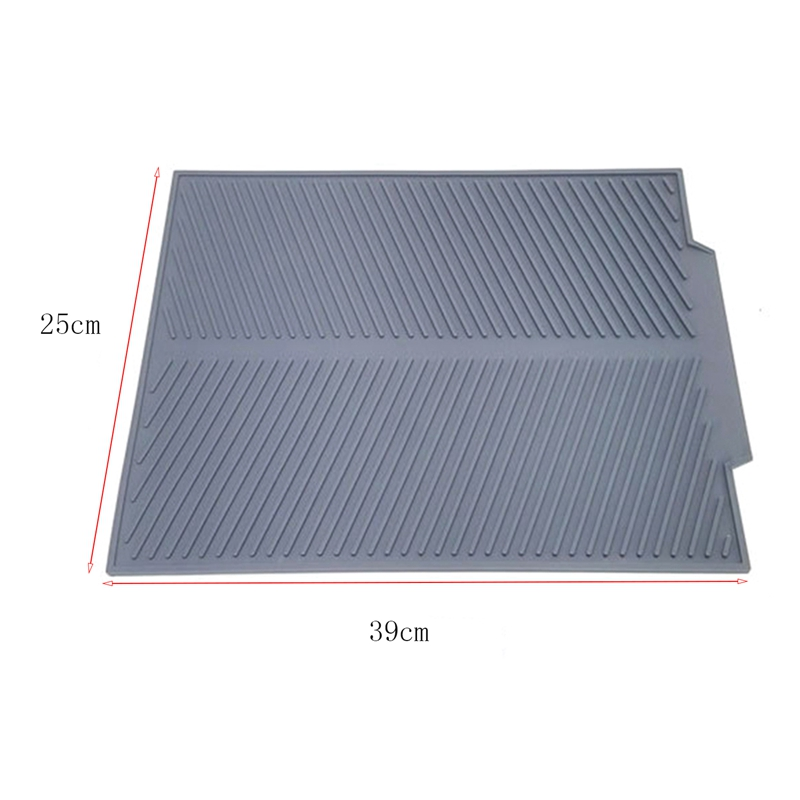 Silicone-Dish-Drying-Mat-Flume-Folding-Draining-Mat-Rectangle-Drain-Mat-B7C4 thumbnail 12