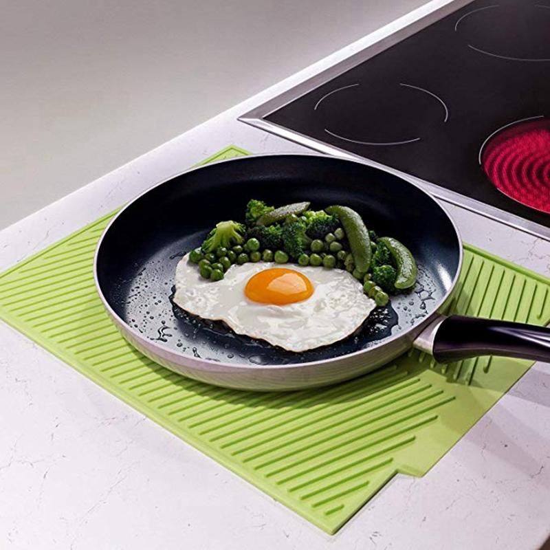 Silicone-Dish-Drying-Mat-Flume-Folding-Draining-Mat-Rectangle-Drain-Mat-B7C4 thumbnail 13