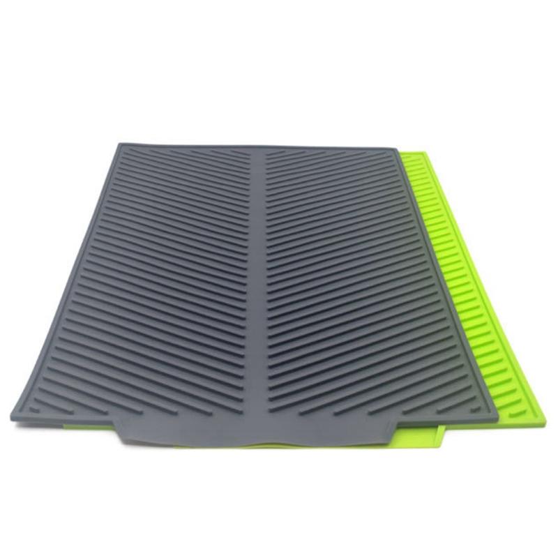 Silicone-Dish-Drying-Mat-Flume-Folding-Draining-Mat-Rectangle-Drain-Mat-B7C4 thumbnail 15