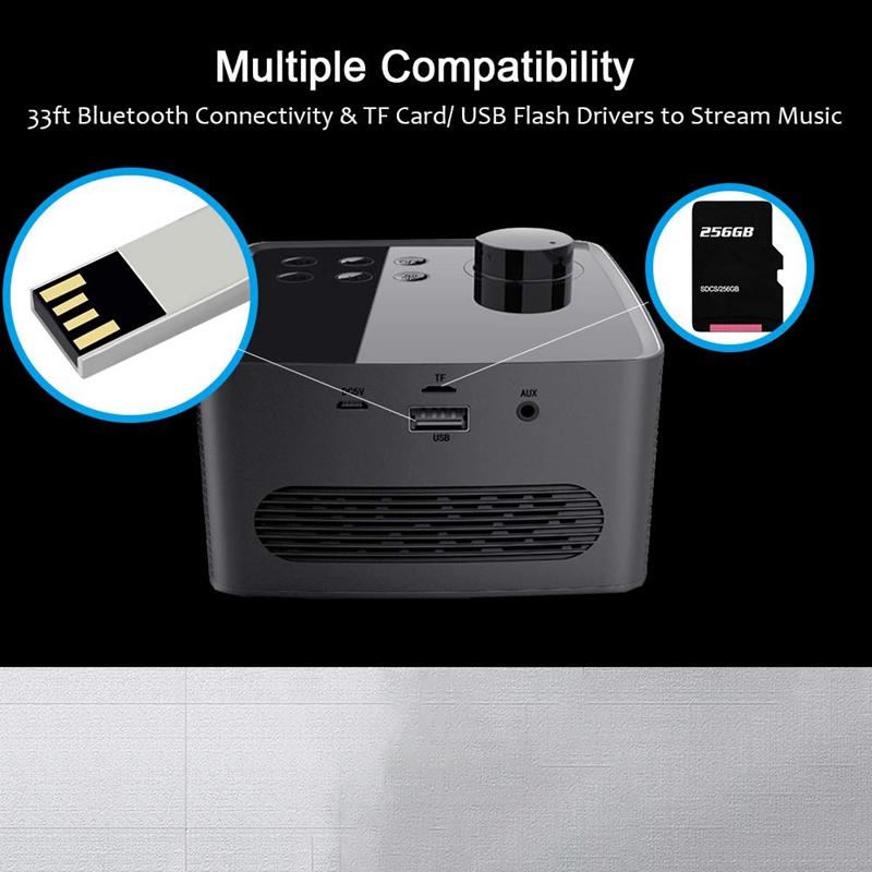Alarm-Clock-Radio-Wireless-Bluetooth-Speaker-With-Fm-Radio-amp-Cell-Phone-Stan-6B5 thumbnail 15
