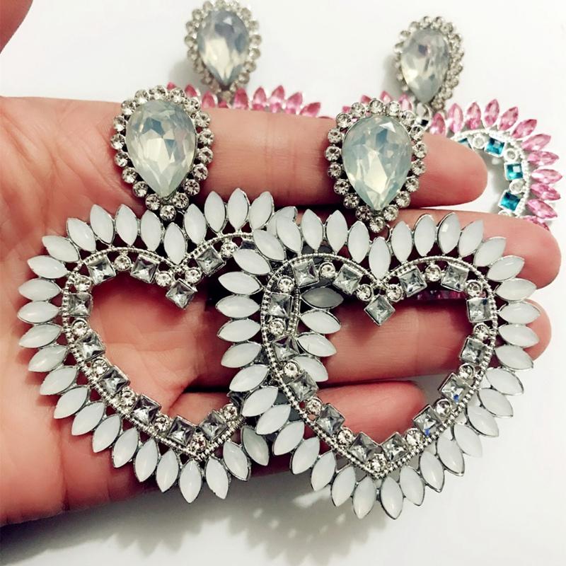 Fine-New-White-Rhinestone-Heart-Charm-Pendant-Earrings-Ladies-Fashion-Jewelr-F2E thumbnail 4