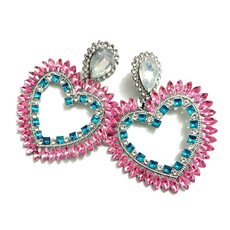 Fine-New-White-Rhinestone-Heart-Charm-Pendant-Earrings-Ladies-Fashion-Jewelr-F2E thumbnail 5