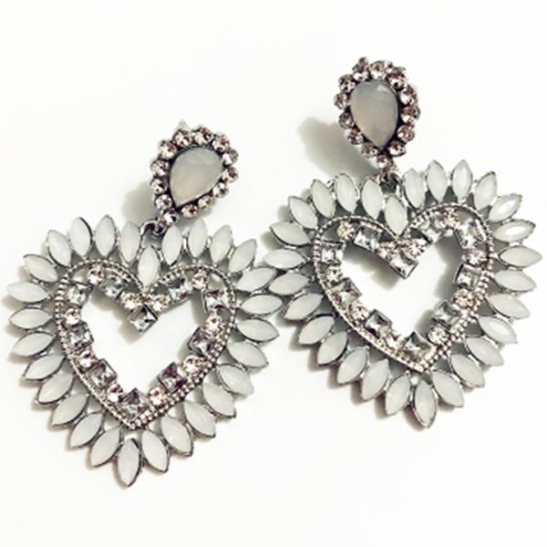 Fine-New-White-Rhinestone-Heart-Charm-Pendant-Earrings-Ladies-Fashion-Jewelr-F2E thumbnail 6