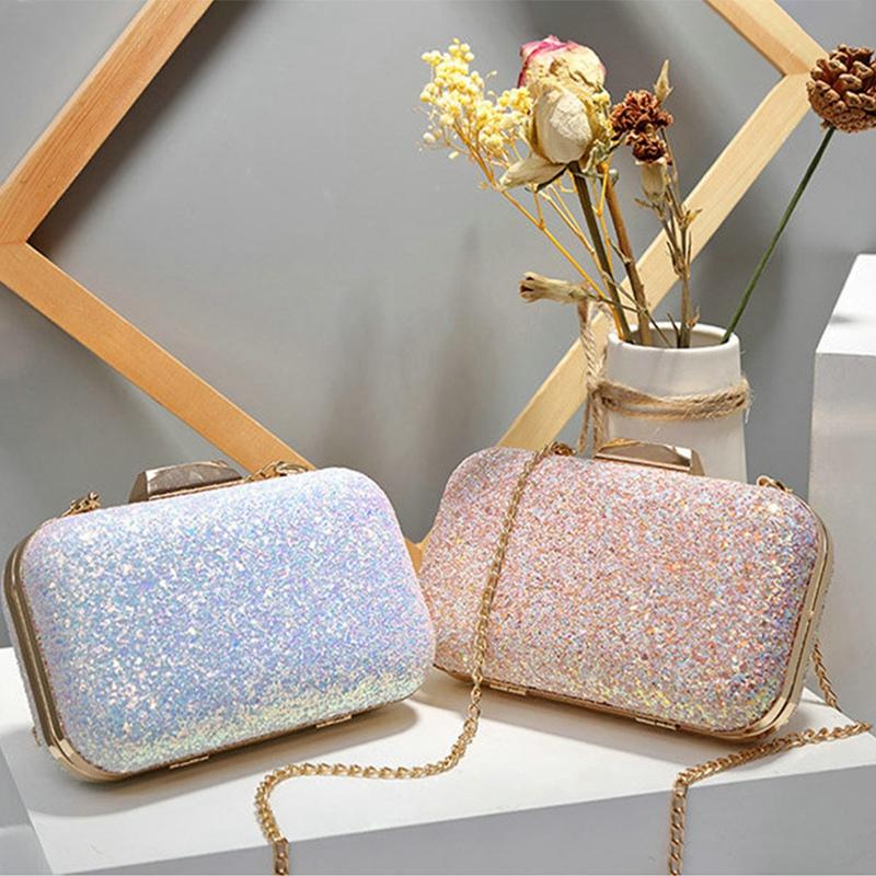 Frauen-Abend-Tasche-Hochzeit-Party-Tasche-Diamant-Strass-Handtasche-Kristal-A4Z5 Indexbild 7