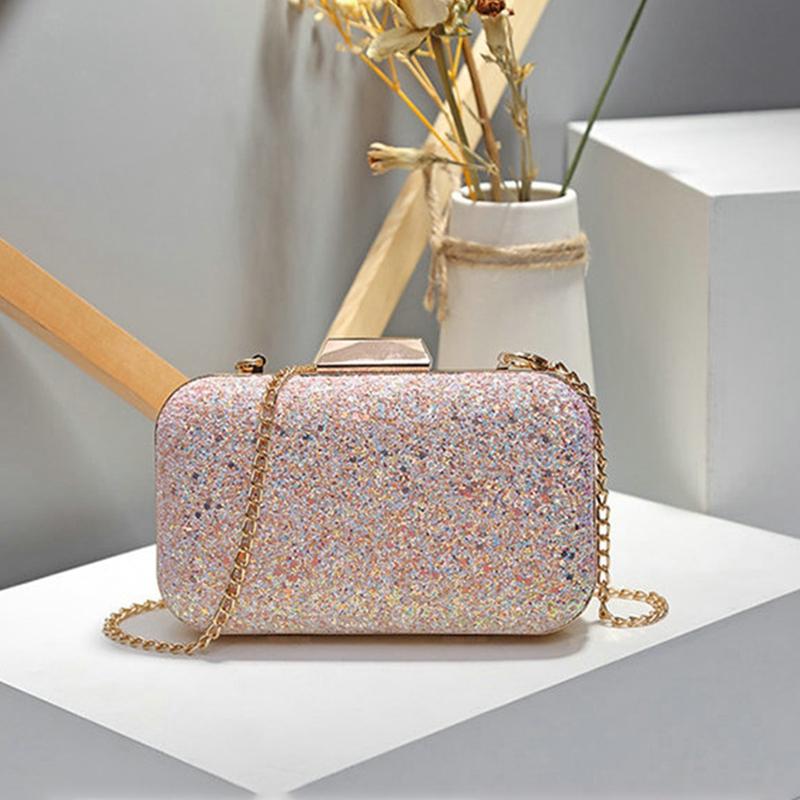 Frauen-Abend-Tasche-Hochzeit-Party-Tasche-Diamant-Strass-Handtasche-Kristal-A4Z5 Indexbild 13