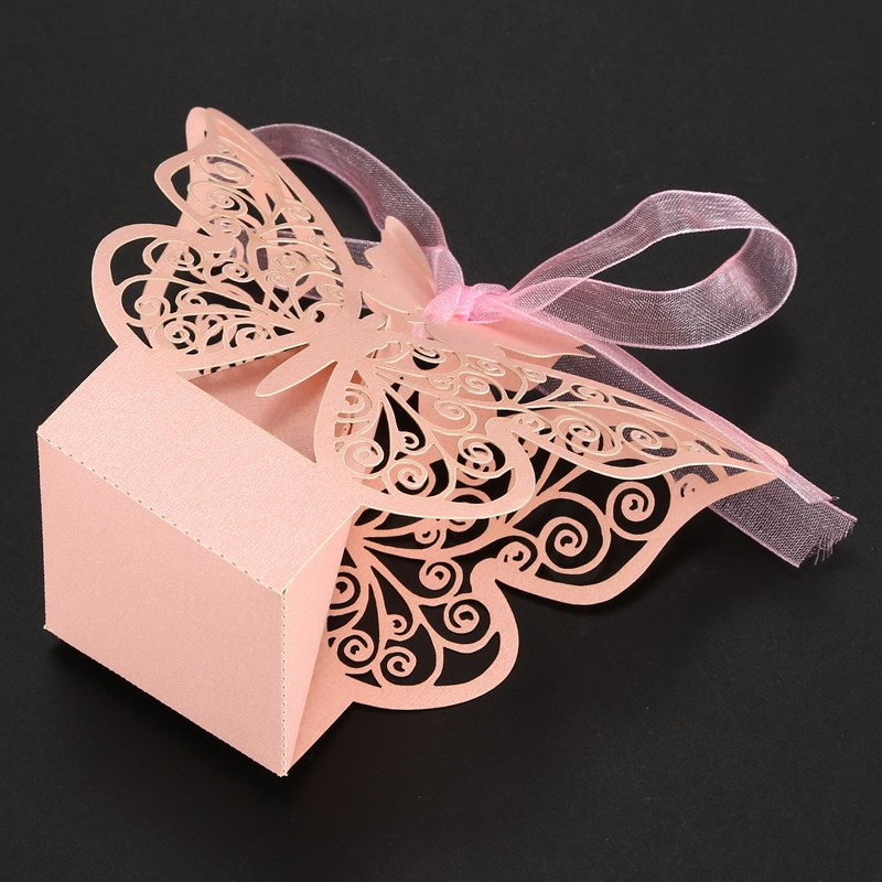 50pcs-Butterfly-Wedding-Favour-Box-Birthday-Party-Gifts-Candy-Boxes-Pink-J4I6 thumbnail 10