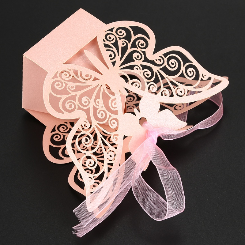 50pcs-Butterfly-Wedding-Favour-Box-Birthday-Party-Gifts-Candy-Boxes-Pink-J4I6 thumbnail 11