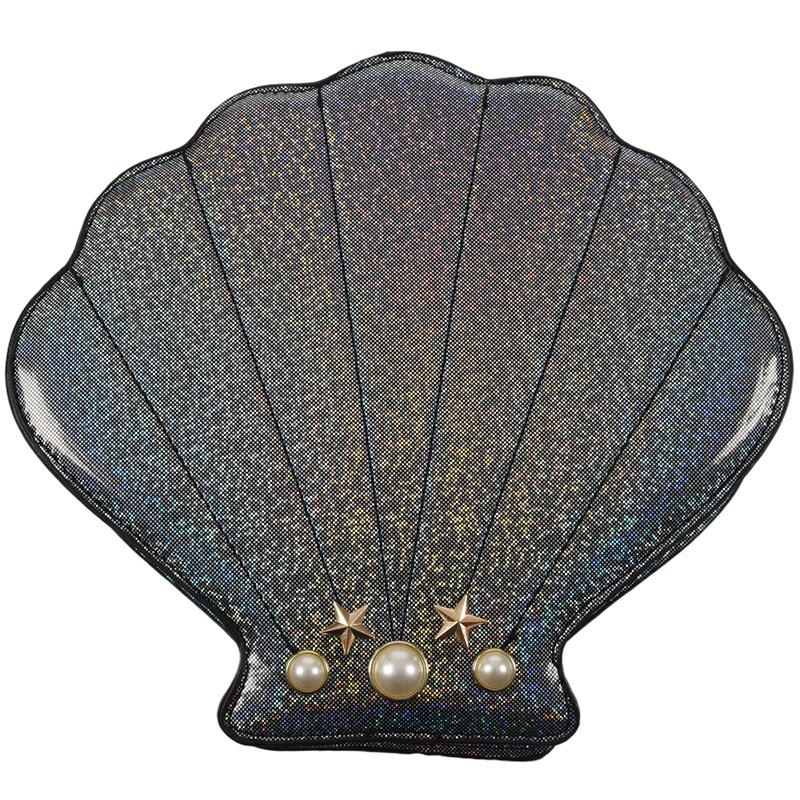 Frauen-Hologramm-Leder-Schale-Perle-Umhaengetaschen-Schultertasche-Handtasc-T1L6 Indexbild 5
