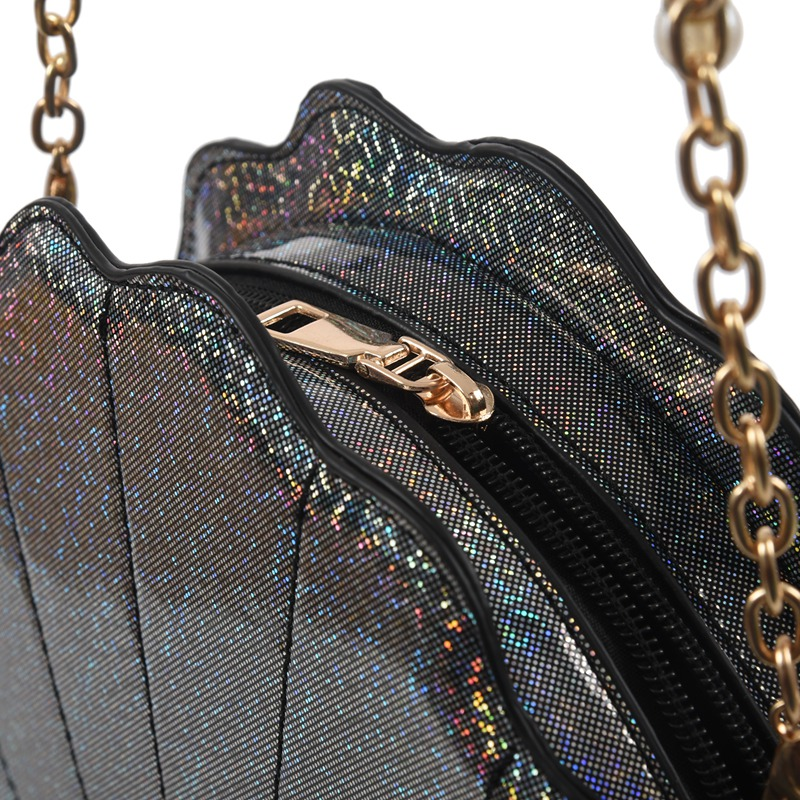 Frauen-Hologramm-Leder-Schale-Perle-Umhaengetaschen-Schultertasche-Handtasc-T1L6 Indexbild 8