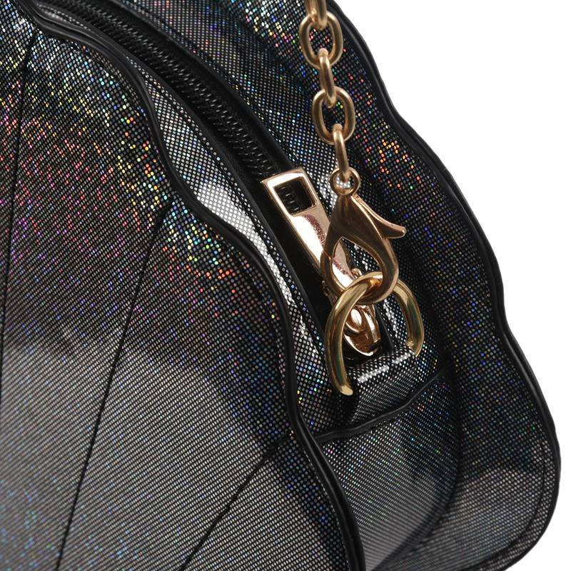 Frauen-Hologramm-Leder-Schale-Perle-Umhaengetaschen-Schultertasche-Handtasc-T1L6 Indexbild 9