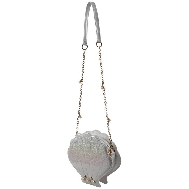 Frauen-Hologramm-Leder-Schale-Perle-Umhaengetaschen-Schultertasche-Handtasc-T1L6 Indexbild 11