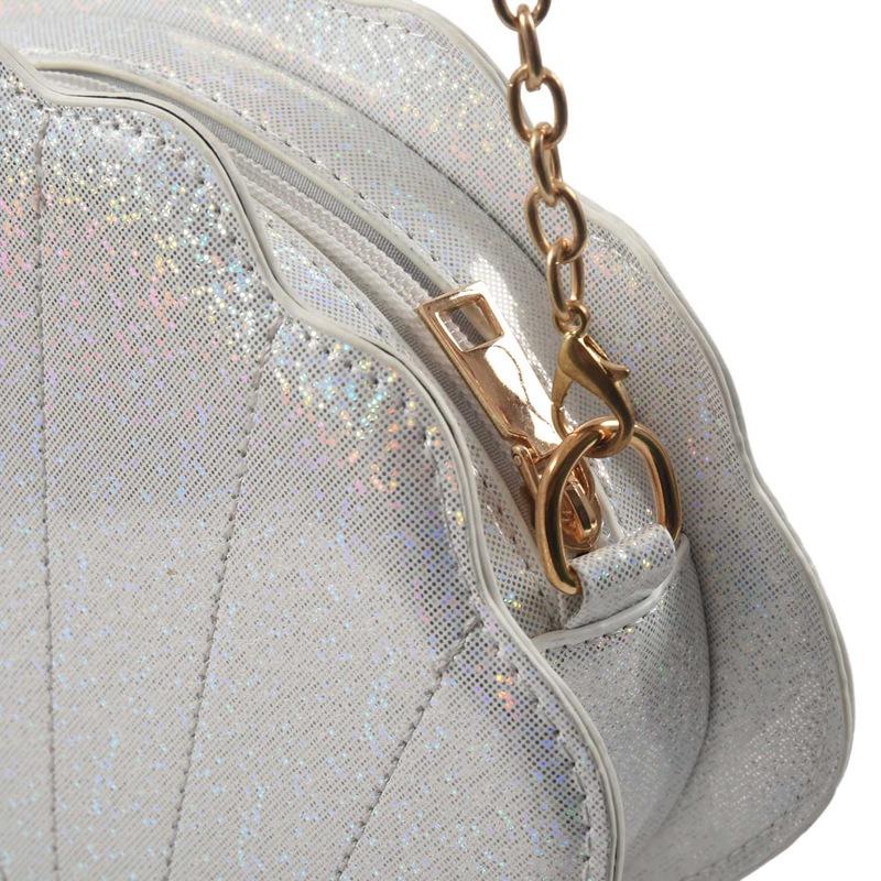 Frauen-Hologramm-Leder-Schale-Perle-Umhaengetaschen-Schultertasche-Handtasc-T1L6 Indexbild 17