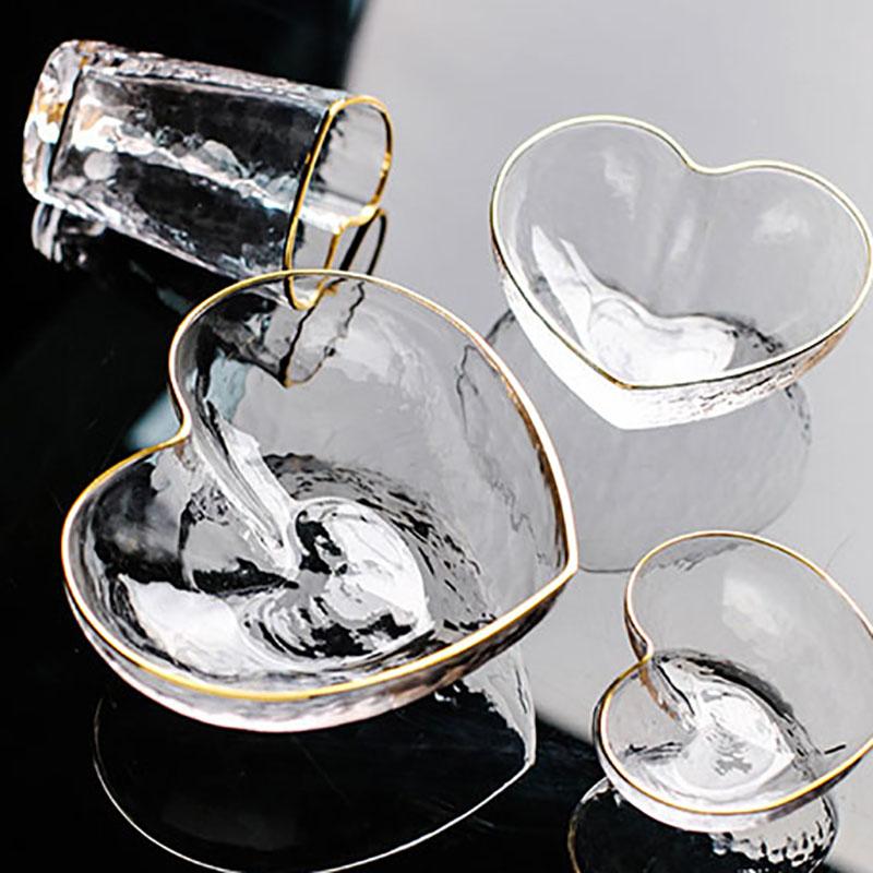 1X-Glas-Haushalts-Salat-Herz-Foermige-Frucht-Wasser-Dessert-Geraete-Schuessel-S3E3 Indexbild 3