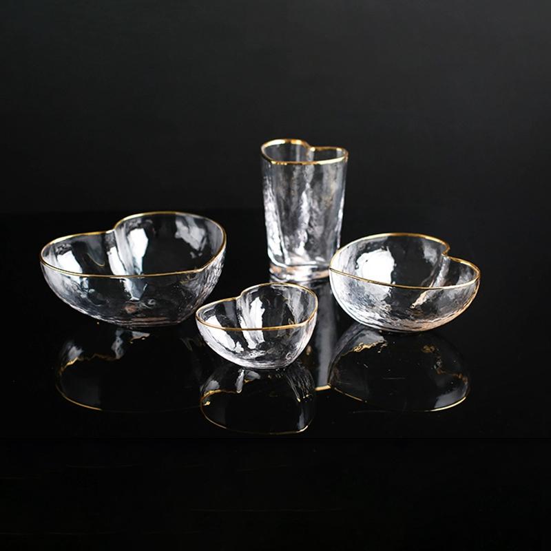 1X-Glas-Haushalts-Salat-Herz-Foermige-Frucht-Wasser-Dessert-Geraete-Schuessel-S3E3 Indexbild 4