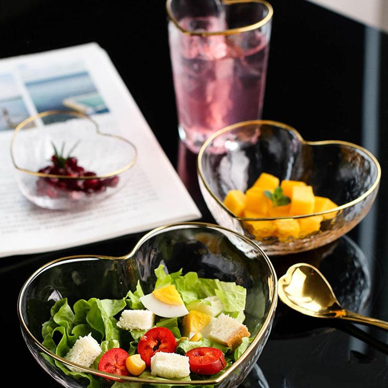 1X-Glas-Haushalts-Salat-Herz-Foermige-Frucht-Wasser-Dessert-Geraete-Schuessel-S3E3 Indexbild 5
