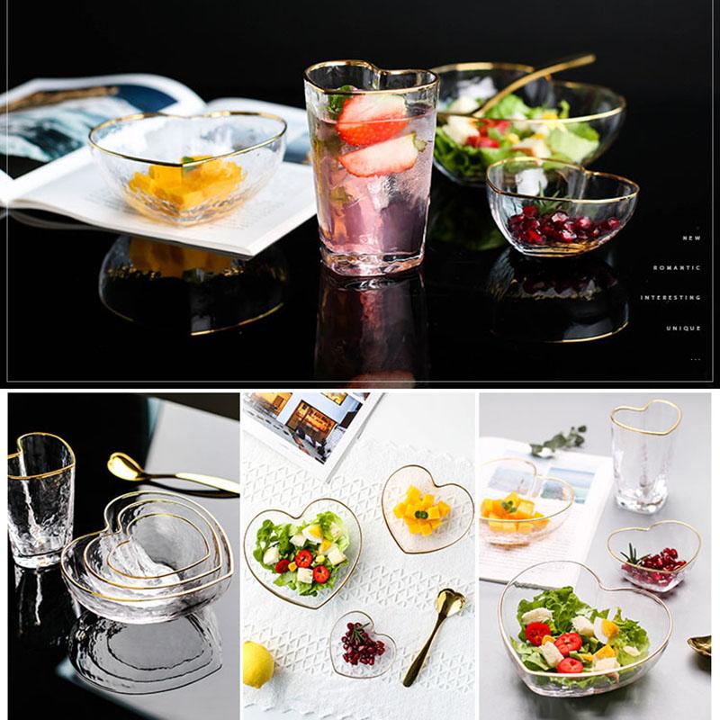 1X-Glas-Haushalts-Salat-Herz-Foermige-Frucht-Wasser-Dessert-Geraete-Schuessel-S3E3 Indexbild 6