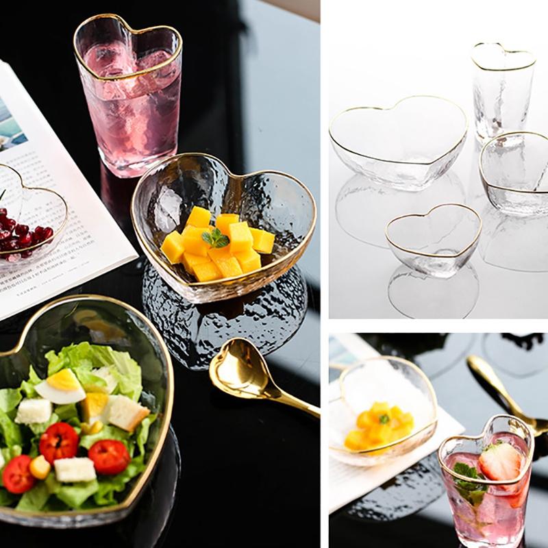 1X-Glas-Haushalts-Salat-Herz-Foermige-Frucht-Wasser-Dessert-Geraete-Schuessel-S3E3 Indexbild 7