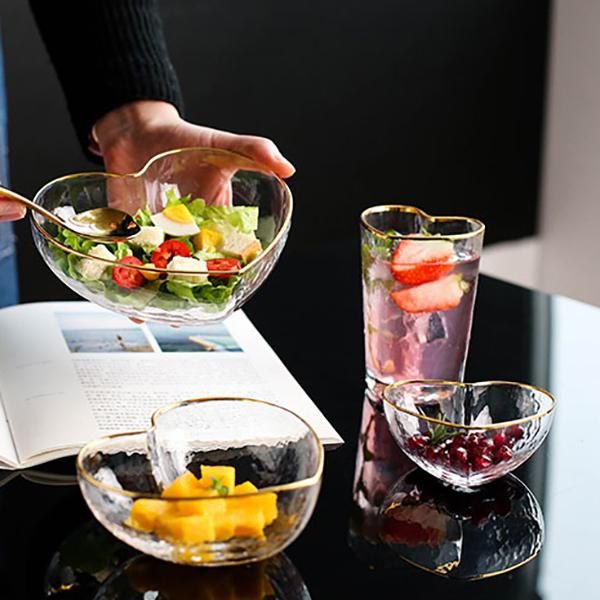1X-Glas-Haushalts-Salat-Herz-Foermige-Frucht-Wasser-Dessert-Geraete-Schuessel-S3E3 Indexbild 8