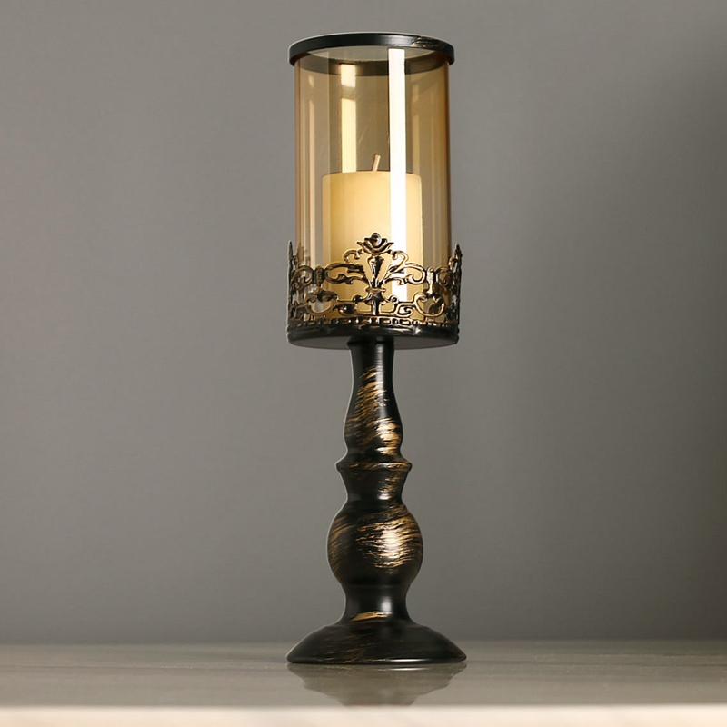 Style-Europeen-Peinture-Chandelier-En-Fer-Forge-Romantique-Chandelles-Diner-N1J9 miniature 3