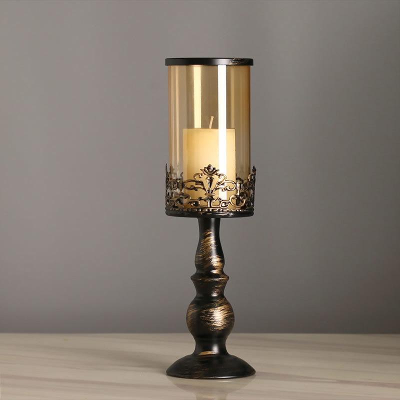 Style-Europeen-Peinture-Chandelier-En-Fer-Forge-Romantique-Chandelles-Diner-N1J9 miniature 4