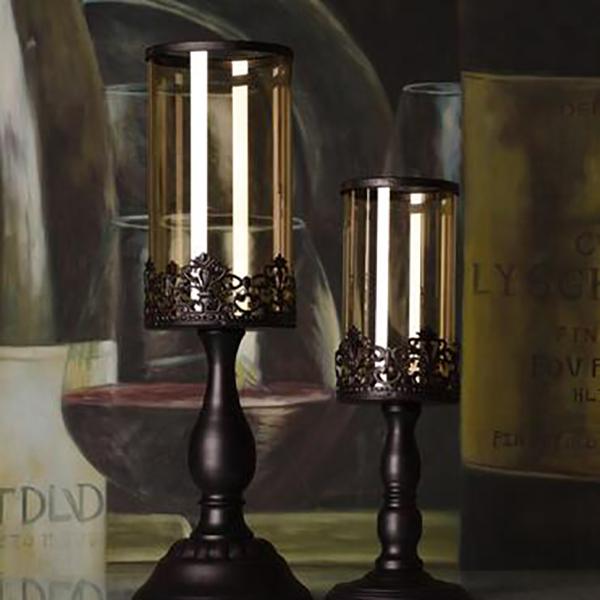 Style-Europeen-Peinture-Chandelier-En-Fer-Forge-Romantique-Chandelles-Diner-N1J9 miniature 7