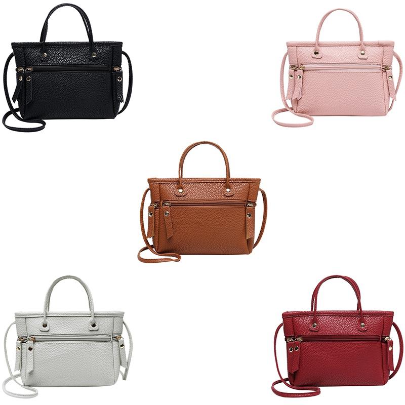 Handtasche-Mode-Neue-Qualitaet-PU-Leder-Damen-Tasche-Kontrast-Damen-Handtasc-A2Z6 Indexbild 3
