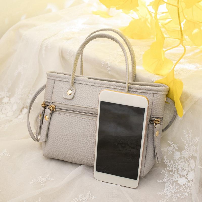 Handtasche-Mode-Neue-Qualitaet-PU-Leder-Damen-Tasche-Kontrast-Damen-Handtasc-A2Z6 Indexbild 4