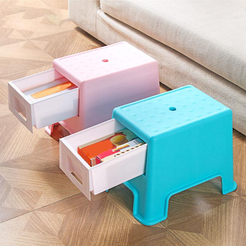 Taburete-de-Plastico-Cambiando-Sus-Zapatos-Pequeno-Banco-La-Gente-Puede-Se-Y7G7 miniatura 3