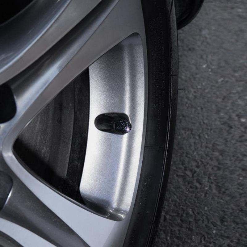 1X-1-Satz-Von-4-Weichen-Ton-Strass-Auto-Reifen-Bonnet-Diamant-Glaenzend-StauW7W1 Indexbild 6