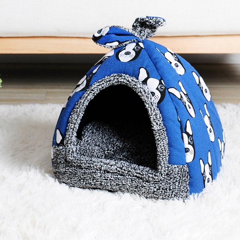 KIMPETS-Pet-Dog-Bed-amp-Sofa-House-For-Dogs-House-Soft-Dog-Nest-Kennel-For-Pu-U1D6 thumbnail 3