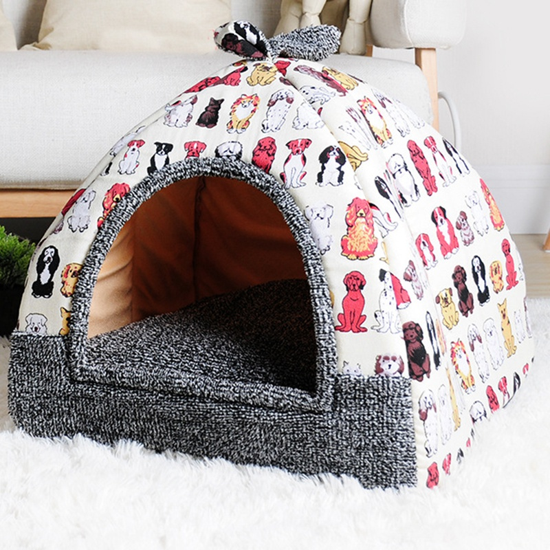 KIMPETS-Pet-Dog-Bed-amp-Sofa-House-For-Dogs-House-Soft-Dog-Nest-Kennel-For-Pu-U1D6 thumbnail 5