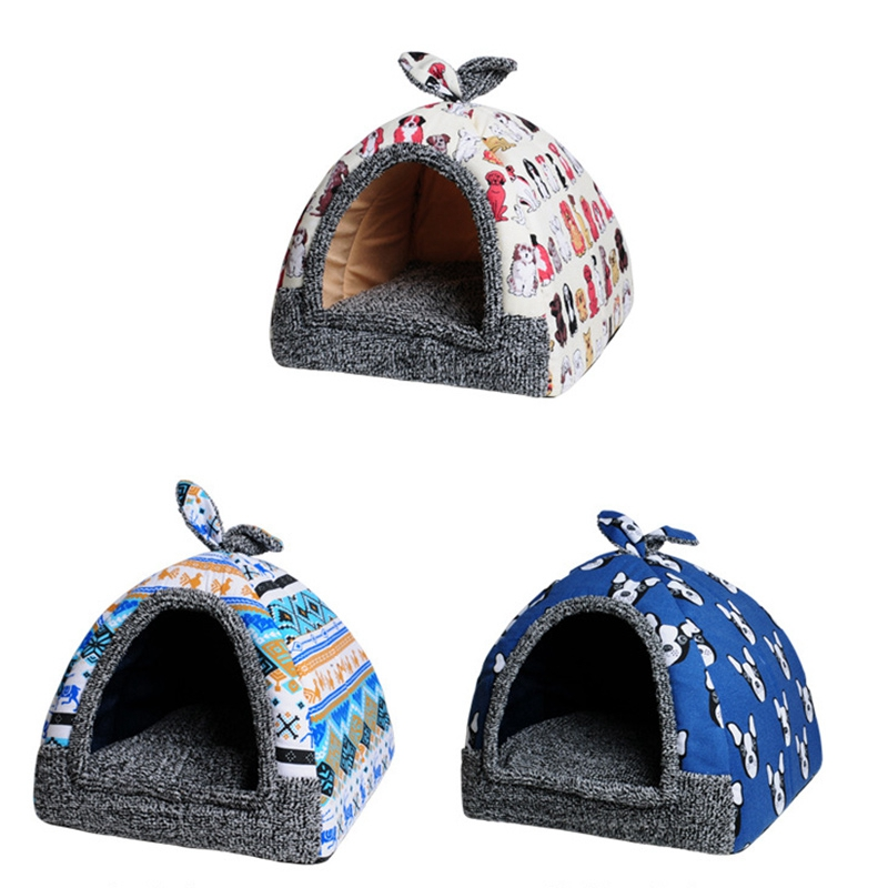 KIMPETS-Pet-Dog-Bed-amp-Sofa-House-For-Dogs-House-Soft-Dog-Nest-Kennel-For-Pu-U1D6 thumbnail 19