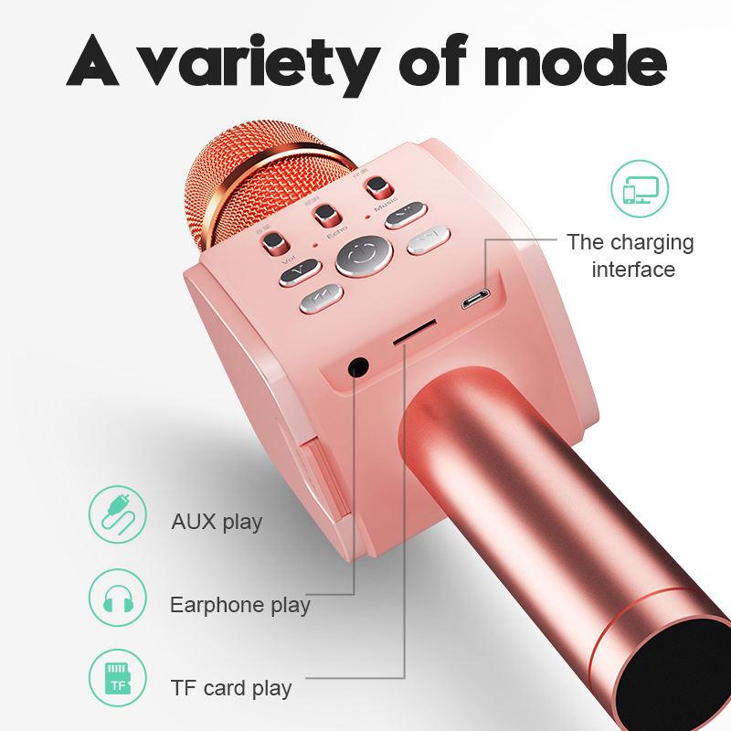 Joyroom-Mc3-Inalambrico-Karaoke-Microfono-Bluetooth-10W-Altavoz-2-En-1-De-M-I8F5 miniatura 6