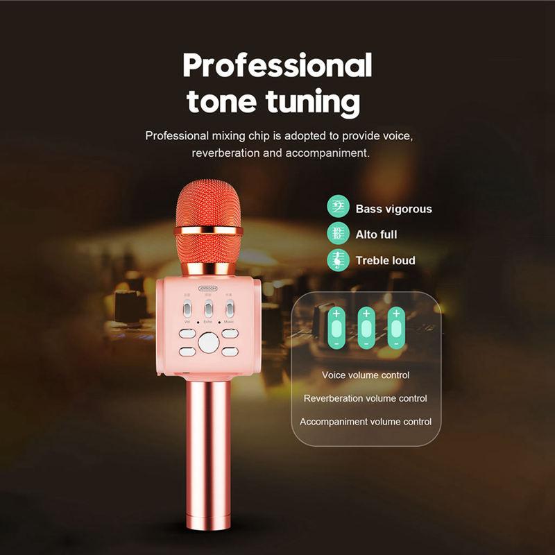 Joyroom-Mc3-Inalambrico-Karaoke-Microfono-Bluetooth-10W-Altavoz-2-En-1-De-M-I8F5 miniatura 20