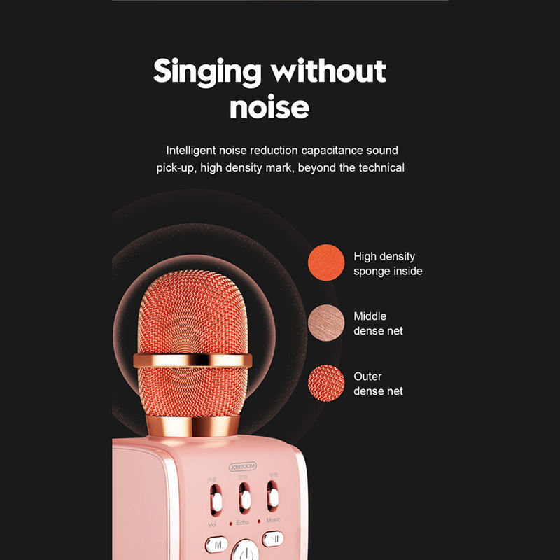 Joyroom-Mc3-Inalambrico-Karaoke-Microfono-Bluetooth-10W-Altavoz-2-En-1-De-M-I8F5 miniatura 21