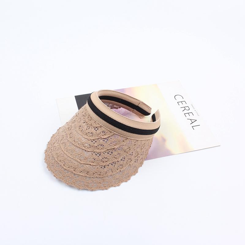 Ete-Visiere-Superieure-Vide-En-Dentelle-Mode-De-Plein-Air-Chapeau-De-Plage-S2Y3 miniature 8