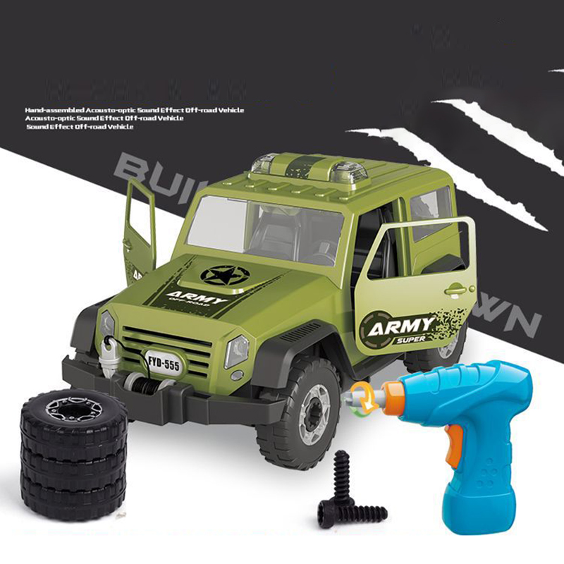 Detachable-Loading-And-Unloading-Nut-Assembling-Combination-Puzzle-Jeep-Outd-5D4 thumbnail 14