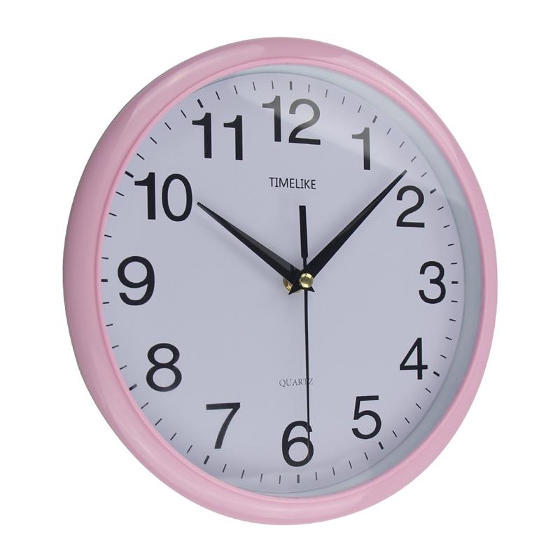 Timelike-Classic-Vintage-Round-Wall-Clock-Modern-Plastic-Clock-Cuarzo-Horlo-X6K9 miniatura 4