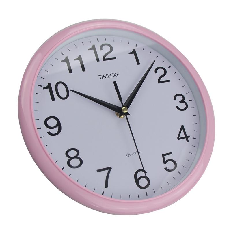 Timelike-Classic-Vintage-Round-Wall-Clock-Modern-Plastic-Clock-Cuarzo-Horlo-X6K9 miniatura 5