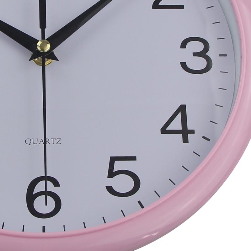 Timelike-Classic-Vintage-Round-Wall-Clock-Modern-Plastic-Clock-Cuarzo-Horlo-X6K9 miniatura 7