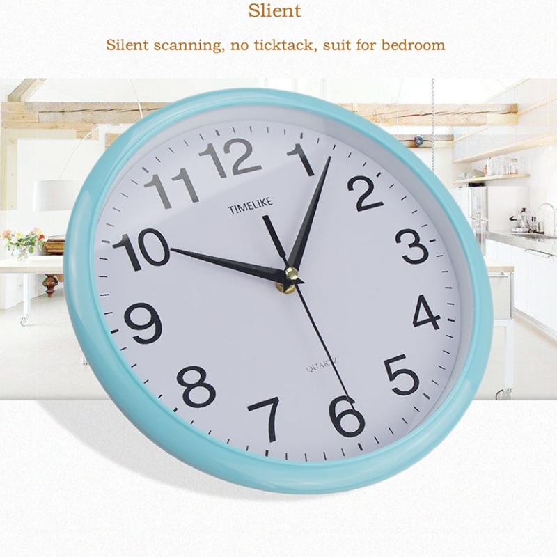Timelike-Classic-Vintage-Round-Wall-Clock-Modern-Plastic-Clock-Cuarzo-Horlo-X6K9 miniatura 10