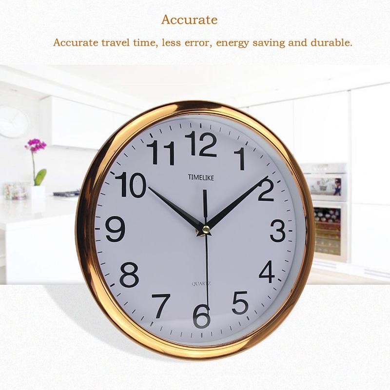 Timelike-Classic-Vintage-Round-Wall-Clock-Modern-Plastic-Clock-Cuarzo-Horlo-X6K9 miniatura 15