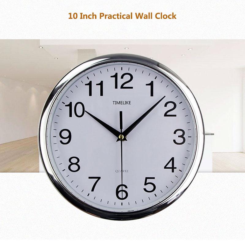 Timelike-Classic-Vintage-Round-Wall-Clock-Modern-Plastic-Clock-Cuarzo-Horlo-X6K9 miniatura 16