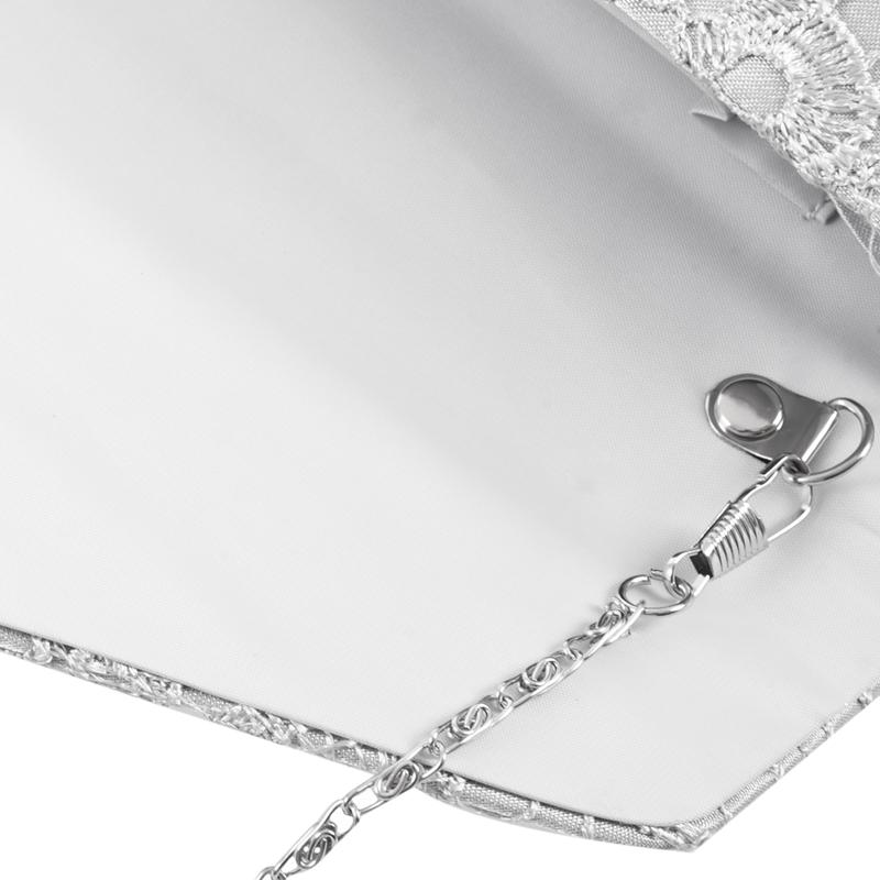 Neuer-Nobler-Spitze-Kupplungs-Umschlag-Beutel-Brautdesigner-Damen-Abend-Par-N1W8 Indexbild 8