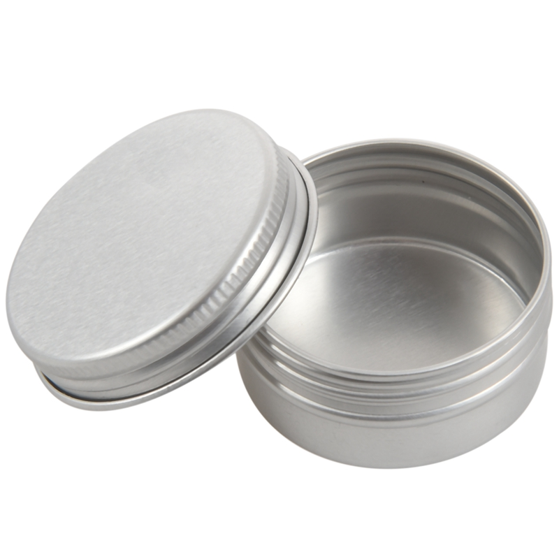 10 Blank 2oz Metal Tin Box Survival Kit Containers whit line