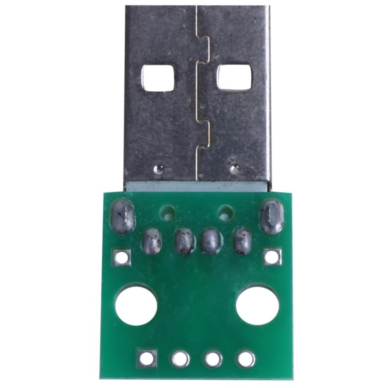 1pcs-green-metal-USB-male-to-DIP2-54mm-DIP-adapter-board-S5T2 thumbnail 2