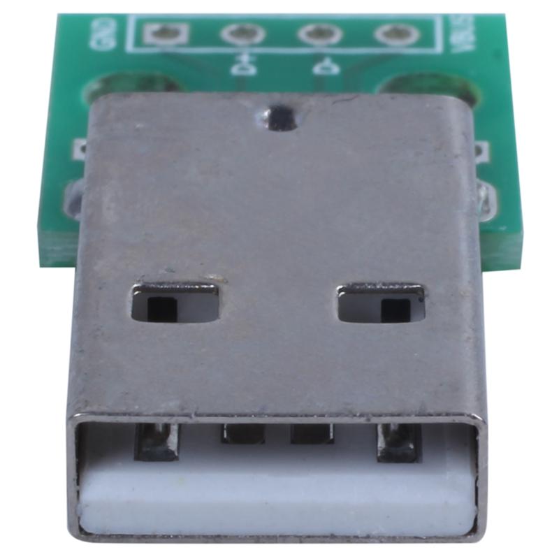 1pcs-green-metal-USB-male-to-DIP2-54mm-DIP-adapter-board-S5T2 thumbnail 3