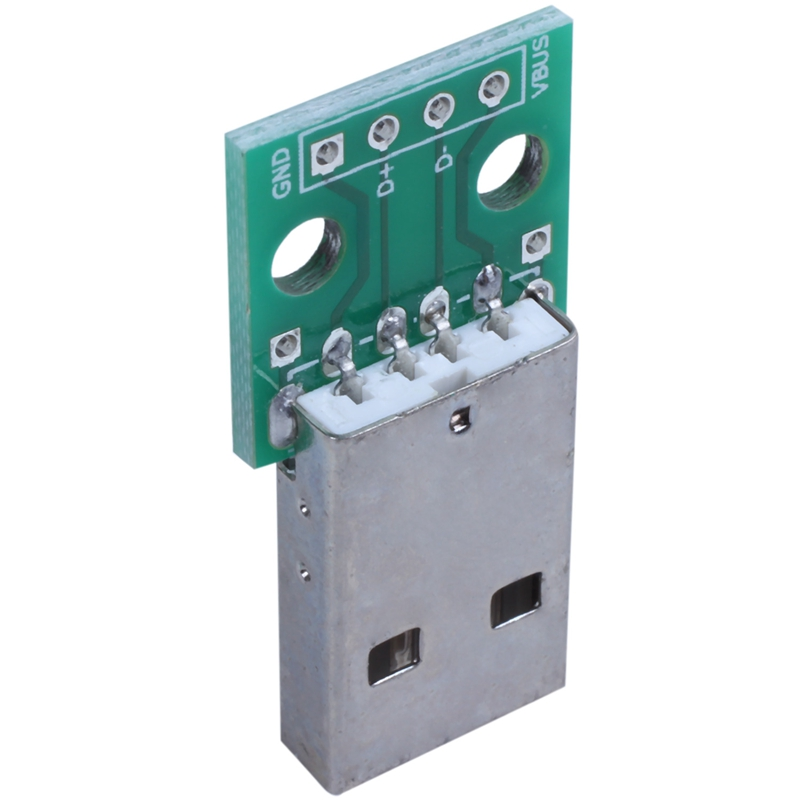 1pcs-green-metal-USB-male-to-DIP2-54mm-DIP-adapter-board-S5T2 thumbnail 5